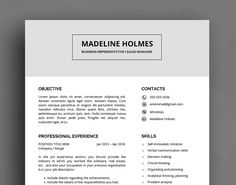 professional resume template cv template cover letter reference list creative resume clear resume word resume instant download - Excellent Resume Templates