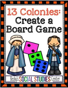 Thirteen Colonies: Create a Board Game - A Fun Group Project! Use this fun activity with your 5th, 6th, 7th, or 8th grade classroom and homeschool students. Students will show what they know about the Original 13 colonies. It's a great activity for your United States history social studies unit or lesson. Click for all the details and to see everything that's included. {fifth, sixth, seventh, eighth graders, upper elementary, middle school}