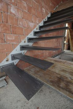 52 Best Quilmana Images In 2019 Metal Stairs Staircase Staircase Design Modern, Stair Railing Design, Home Stairs Design, Staircase Railings, Modern Stairs, Interior Stairs, Stairways, Cantilever Stairs, Metal Stairs