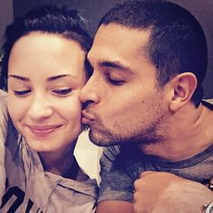 """Pin for Later: 22 Times Demi and Wilmer Gave Us Serious #RelationshipGoals When Demi Called Wilmer """"Perfect"""" We just can't take how sweet they looked as he kissed her on the cheek!"""