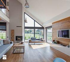 DOSKONAŁY 3 - realizacja projektu - Salon, styl skandynawski - zdjęcie od DOMY Z WIZJĄ - nowoczesne projekty domów