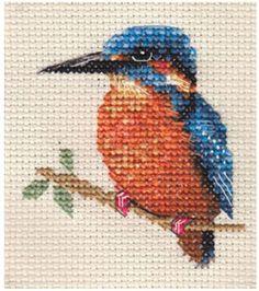 KINGFISHER-Full-counted-cross-stitch-kit-Bird