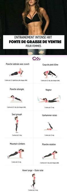 Read also: Best home exercise to lose belly Tired of displaying a swollen belly with fats piled around your waist? Want a slimmer and sportier abdomen? Melt Belly Fat, Lose Belly Fat, Easy Workouts, At Home Workouts, Swollen Belly, Best At Home Workout, Personal Fitness, Belly Fat Workout, Summer Body