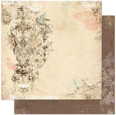 CozmArt - Scrapbooking - עיצוב אלבומים - דפים בודדים - Romance - קארדסטוק מקולקציית Gabrielle מבית Bo Bunny.