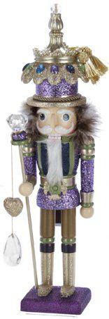 Fancy Purple Glitter Christmas Nutcracker