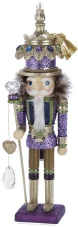 Fancy Purple Glitter Christmas Nutcracker