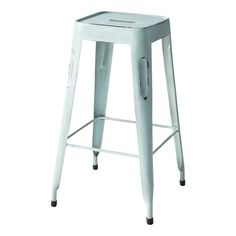 Industrial Bar Stool in vintage blue - Jim Jim | Maisons du Monde