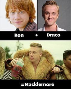 ron + draco = macklemore LOL