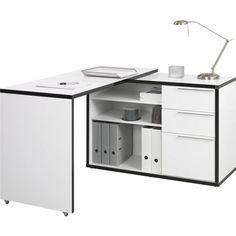 Funkční psací stůl se 3 zásuvkami a 2 deskami: bílá je trendy!