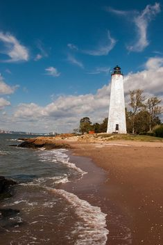 Lighthouse Point in East Haven, Connecticut.
