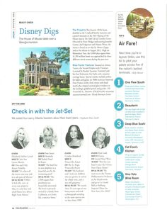 Disney Digs article in this month's issue of The Atlantan magazine