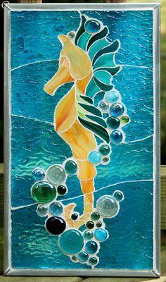 Mosaic Seahorse Pattern images