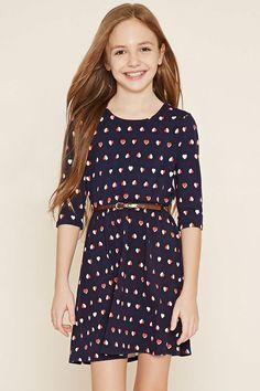 Girls Heart Print Dress (Kids) | Forever 21 Canada