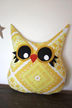 owl pillow plush owl stuffed animal stuffed owl by 5orangepotatoes, $28.00