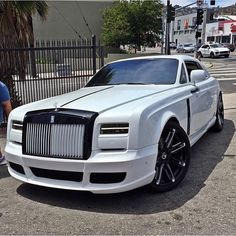 Pure White Rolls Royce Phantom Coupe