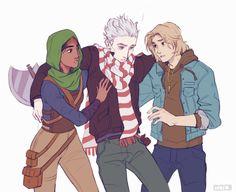 Magnus, Sam, and Hearthstone by Viria.