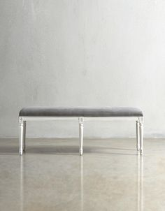 The JULIETTE Bench - in Stonewashed Fog - Swoon Editions - swooneditions.com
