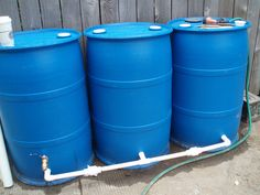 Rain barrel water system Building this for my Christmas present this year. 55 Gallon Plastic Drum, Homestead Farm, Rain Barrels, Drip Irrigation, Tool Sheds, Farms Living, Wedding Hairs, Earthship, Water Systems