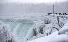 Niagara Falls Has Almost Completely Frozen Over