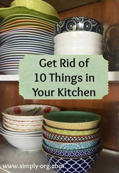 Get rid of these 10 things in your kitchen to make more space! #homeorganization #declutter #kitchenorganization