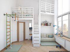 Una habitación juvenil de altura   Decoración