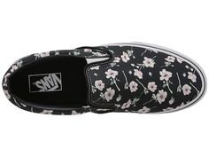 Vans Classic Slip-On™ (Checkerboard) Black/Pewter - Zappos.com Free Shipping BOTH Ways