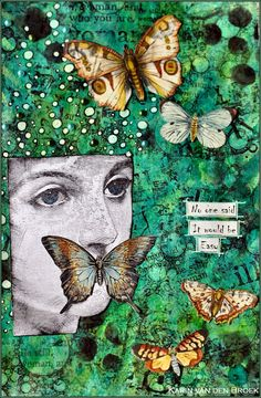 """""""No One Said It Would Be Easy."""" Beautiful & Creative Art Journal Page"""