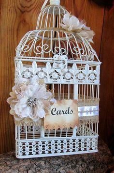 Decorative Card Boxes Bird Cage Card Holder  Wedding Card Box  Wedding Birdcage