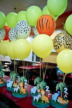 Custom Printed Balloons for any occassion. Have an event or Party coming up or just wanting a cost effective way to promote your business. Look no further than Print My Balloons Jungle Party Decorations, Jungle Theme Parties, Jungle Theme Birthday, Safari Birthday Party, 2nd Birthday Parties, Balloon Decorations, Birthday Ideas, Safari Party, Jungle Safari