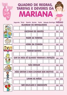 Tabela Regras Childhood Education, Kids Education, Baby Kids, Baby Boy, Charts For Kids, Au Pair, Kids Room Wall Art, Blog Planner, First Baby