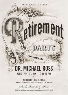 Shop Supreme Vintage Retirement Party Invitations created by Anything_Goes.