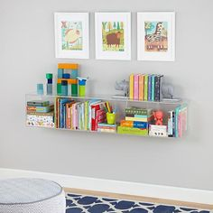 Now You See It Acrylic Shelf Bookcase | The Land of Nod