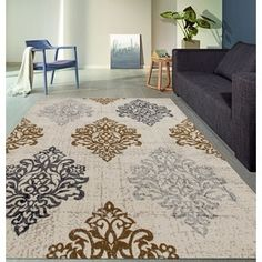 Shop for Transitional Damask High Quality Soft Yellow Area Rug (7'10 x 10'2). Get free shipping at Overstock.com - Your Online Home Decor Outlet Store! Get 5% in rewards with Club O!