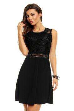 Robe de soirée robe de cocktail chic noire robe noire TM-PM1115 - Toufamode  Robe acc0097632f0