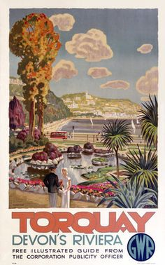 'Torquay, Devon's Riviera', GWR poster, 1930s.