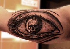 Skull eye by ILOna