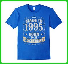 Mens Made In 1995 Birthday T-Shirt Born To Be Wonderful 2XL Royal Blue - Birthday shirts (*Amazon Partner-Link)