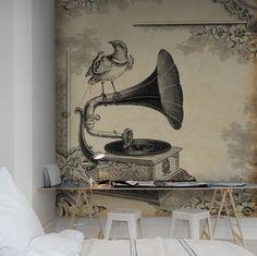 En favorittapet från Rebel Walls, Gramophone! #rebelwalls #fototapet #tapeter