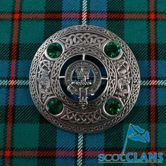 Clan Robertson Plaid Brooch
