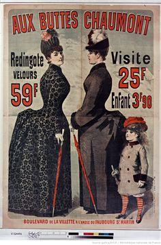 Aux Buttes Chaumont, Redingote velours..., enfant 3F90... : [affiche] / [Jules Chéret]