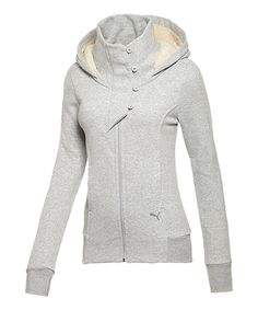 Take a look at this Gray Heather Winterized Zip-Up Hoodie on zulily today!