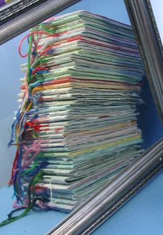 Stack of Handmade Paper Books by Zesty Betsy, via Flickr.