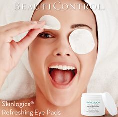 In as little as five minutes, these pre-moistened, refreshing eye pads cool skin and help reduce the appearance of puffiness and dark circles. Lean back, relax and soothe your tired eyes. Refrigerate for an extra burst of freshness! Nothing says ahhhh quite like BeautiControl's Skinlogics® Refreshing Eye Pads! #SkinCare #DarkCircles #BeautiControl