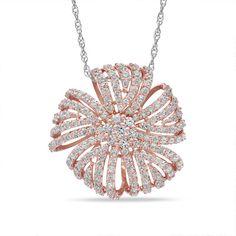 1-1/2 CT. T.W. Diamond Pinwheel Pendant