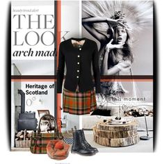 Heritage of Scotland by soks on Polyvore featuring Ted Baker, Anja and CALIDA