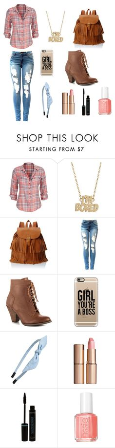 """Back to school outfit..."" by chrisantal ❤ liked on Polyvore featuring maurices, Marc by Marc Jacobs, LULU, Mojo Moxy, Casetify, Cara, Charlotte Tilbury, Essie, women's clothing and women's fashion"