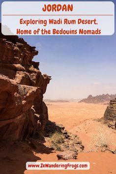 View into Wadi Rum Desert // #Jordan #Desert #WadiRum // #AdventureTravel by Ze Wandering Frogs