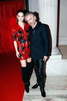 Pin for Later: It Wasn't Just the Carpet That Was Red at L'Oréal's Paris Party Barbara Palvin and Cyril Chapuy