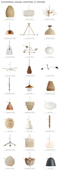 Achieving the 'California Casual' Style: Lighting - Ceiling Lights