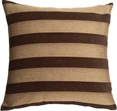 Brackendale Stripes Brown Throw Pillow from Pillow Decor